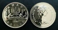 Canada 1980 Proof Like Gem Voyageur Nickel Dollar!!