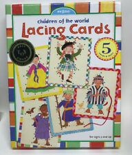 New 2002 Stock EEBOO Children of the World 5 Sewing Cards ~ Fine Motor Skills