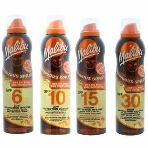 Malibu Continuous Dry Oil Spray Spf Sun Protection Non-Greasy 175ml