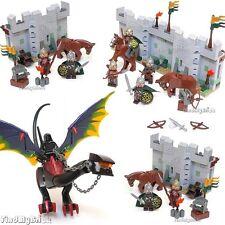 Lego Custom Osgiliath Walls Custom Nazgul Dragon & Eomer with Rohan Soldiers NEW