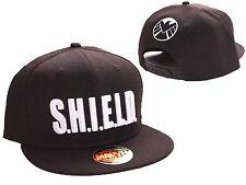 Marvel's agents de bouclier (S.H.I.E.L.D) Noir Snapback Cap Hat * NEUF *