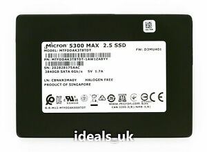"Micron 5300 MAX 3.84TB SSD 2.5"" SATA III (MTFDDAK3T8TDT) Enterprise Drive"