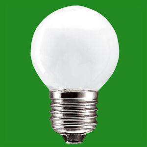 2x 40W Golf Ball Pearl Dimmable ES E27 Edison Screw Standard Light Bulb Lamp