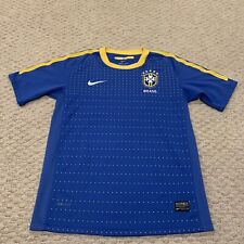 Brasil CBF National Soccer Team Nike Dri-Fit Jersey Youth Boys Large 14-16