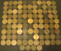 BRITISH LARGE PENNY LOT of 103 Pennies 1866-1967  Great Britain 1c Foreign Coin