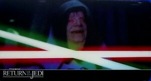 STAR WARS, RETURN OF THE JEDI, TOPPS 2014 WIDEVISION 3D, CARD # 34, LIGHTSABER