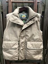 Mens Cabela's Premier Northern Goose Down Brown Puffer Vest Size S