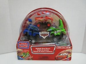 NEW 2007 Disney Pixar Cars Buildable Street Racers Set 7781 Sealed Mega Bloks