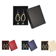 5pcs Rectangle Cardboard Jewelry Gift Box for Ring Necklace 9.7x7.8x3.9cm