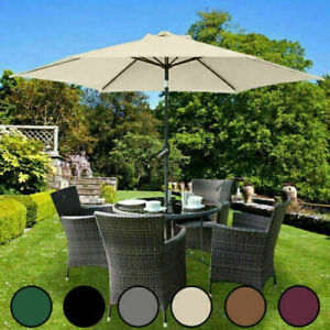 UK 2m-3m  Replacement Fabric Garden Parasol Canopy Cover for 6 8 Arm Umbrella