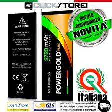 BATTERIA POTENZIATA LEADER DURATA POTENZA POWER-GOLD 3.7V 2720mAh PER IPHONE 5S