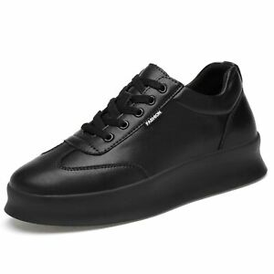 Mens' Taller Elevator Shoes Fashion Sneakers Athletic Lace Up Thick Bottom Shoes