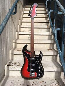 Very Rare Vintage Burns Baldwin Jazz Bass Guitar 1965