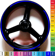 CUSTOM BLUE VIBRANT MOTORCYCLE SPEED GP RIM STRIPES WHEEL TAPE DECALS STICKERS