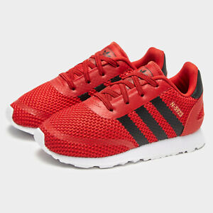 SALE adidas Originals N-5923 EL Trainers Red Kids SIZE 4 Infant Baby Boys Girls