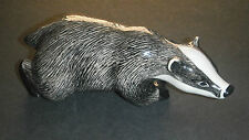 QUAIL CERAMICS BADGER FIGURINE BOXED