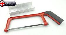 "150mm Hacksaw & Mitre Block Set 6"" Adjustable Angle Cutting Corner Cut Saw Blade"