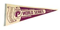 Vintage 1983 Philadelphia Phillies World Series Champions Pennant MLB Baseball