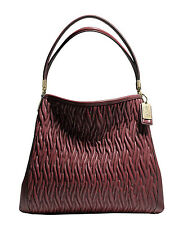 NWT $458 Coach 26257 Brick Gathered Leather Phoebe Shoulder Tote Bag