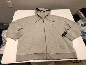 NWT $125.00 Polo Ralph Lauren Mens Performance Full Zip Hoodie Gray B&T Size 3XB