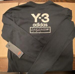 Adidas Y-3 // Youth Stacked Logo Longsleeve Tee [Black] #FJ0305 (Small)