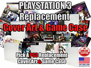 PS3 PlayStation 3 Replacement Game Cover Art Box Art And Game Case