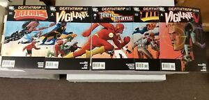 Deathtrap Set Titans #12 #13,Teen Titans #70,Vigilante #5,6 VF DC Comics