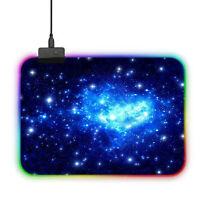 USB RGB Mousepad LED Beleuchtung PC Gaming Mauspad Sternenhimmel 300x250mm
