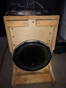 JL Audio 13 inch subwoofer 13W6v2-D4 and 600/1v3 amplifier