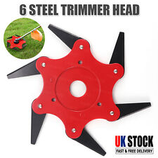 More details for 6 teeth blade trimmer cutter head tool steel grass lawn mower garden strimmer uk