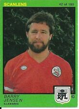 Illawarra Steelers 1982 Rugby League (NRL) Trading Cards
