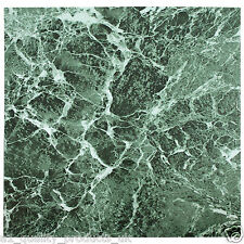 60 x Vinyl Floor Tiles - Self Adhesive - Bathroom Kitchen BNIB Green Marble 192