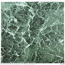 28 x Pavimento In Vinile - Adesivo - Bagno Cucina NUOVO SCATOLA Verde Marmo 192