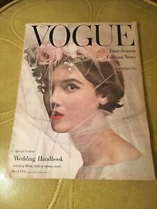 Vintage Vogue Magazine July 1956