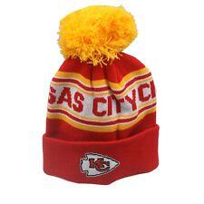 Kansas City Chiefs NFL Kids Boys (4-7) Most Cuffed Pom Knit Winter Beanie New