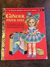 Vintage 1957 Ginger Paper Doll A Little Golden Activity Book