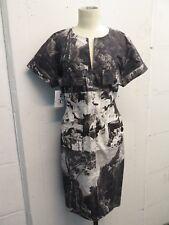 Dries Van Noten Cotton Scenic Print Waist Tie Shift Dress Sz 38 Totokaelo