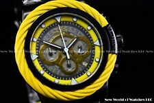 New Invicta 50mm Bolt Sport Chronograph Yellow MUSTANG Black SS Diver Watch