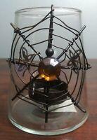Halloween Candle Holder Spider Spiderweb Votive Tea Light Holiday Spooky