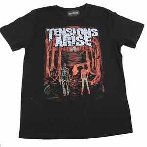 Tensions Arise Band T Shirt Size M Black Spear Justice Clothing Metalcore Aust