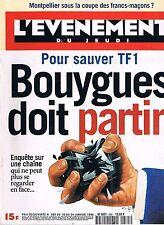 L'evenement Du Jeudi   N°585   18 Au 24 Jan 1996 : pour sauver tf1 bouygue doit
