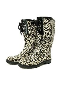 Unbranded women size 6 leopard print Rain boots