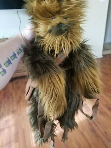 """Star Wars Large 25"""" Plush Chewbacca Hugging Backpack with Messenger Bag"""