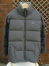 REEBOK WOMENS UK SIZE 14 GREY PUFFER DOWN FEATHER COAT VGC