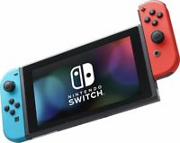 New Nintendo Switch Bundle Switch Red & Blue console & Game & Mario Bros Case