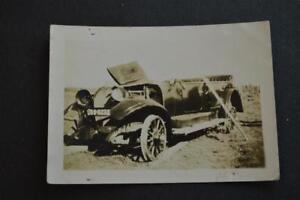 Vintage Car Photo circa 1920 Oldsmobile Touring Wreck 906040