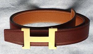 Original Hermes Gürtel mit Goldener Argent Schnalle - Top Zustand