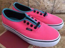 28e86732978 Vans Authentic Brite Neon Pink Black Sz Mens 9   Womens 10.5 NIB