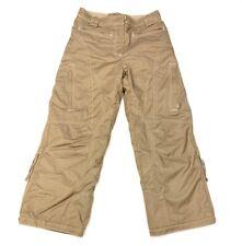 Obermeyer Girls Ski Pants Brown Pockets Zipper Flat Front Lined Juniors 14