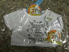 """Teddy Mountain 16"""" - Color Me Happy Birthday T Shirt 2648 Clothes Costume - New"""